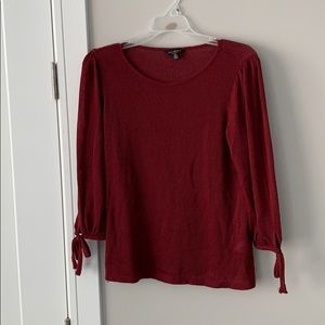 Lucky Brand burgundy 3/4 sleeve shirt